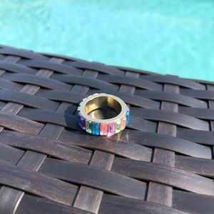 Multicolored Stones Ring NWT